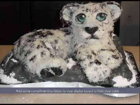 Snow Leopard Birthday Cake