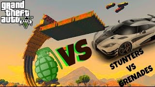 GTA 5 Online  STUNTERS vs GRENADES ( video from the creator / CCC_010 )