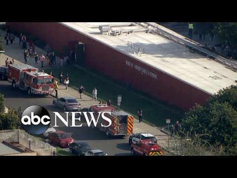 Aircraft releases jet fuel over schools before emergency landing l ABC News