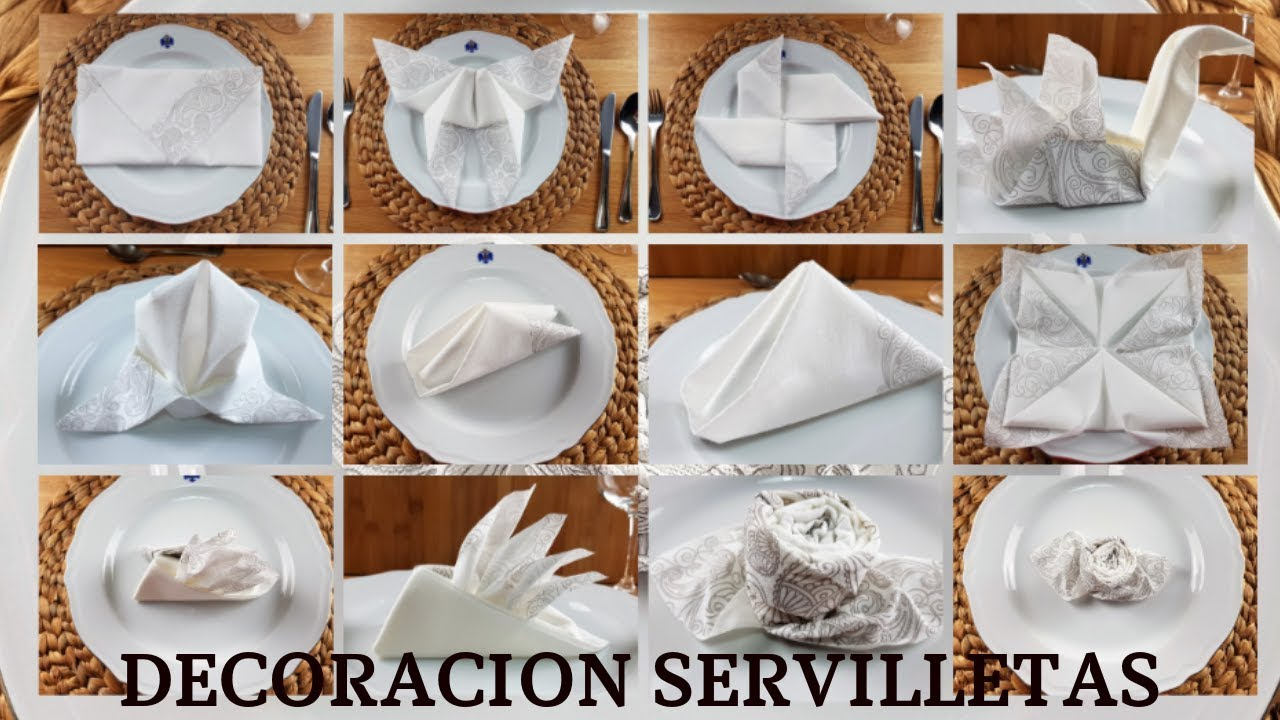 Decoracion De Servilletas De Papel Ideas Para Fiestas Y Celebraciones Youtube