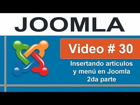 Insertar artículos y menú en Joomla