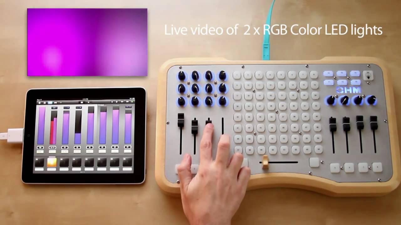 Luminair for iPad - USB MIDI controlling DMX