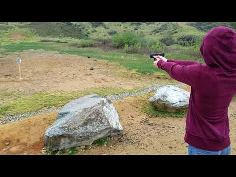 13 year old daughter shooting glock 19 and killing it.