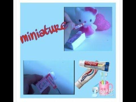 _diy lover_ diy miniature doll toothpaste | dollhouse diy