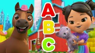 ABC Song - Learn Phonics | @Lellobee City Farm - Cartoons & Kids Songs | Lellobee