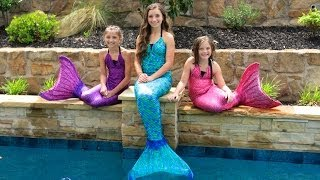 Live Mermaids Swimming in Our Pool!(You can follow my twin girls' YouTube channel here! http://www.youtube.com/subscription_center?add_user=BrooklynAndBailey _ Save a bunch of money and ..., 2014-06-05T00:02:10.000Z)