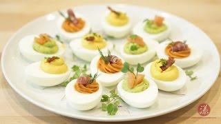 三色魔鬼蛋 Deviled Eggs 3 Ways   【漾漾美味】第20集