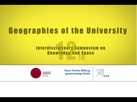 12. Symposium on Knowledge & Space: Geographies of the University (2014)