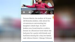 Tereasa Martin, the mother of Kenneka Jenkins, KICKED OUT HOTEL  daughter found in hotel freezer