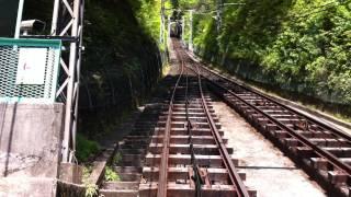 神奈川県の大山にある大山ケーブルカーの 車窓からの映像です。(大山ケ...