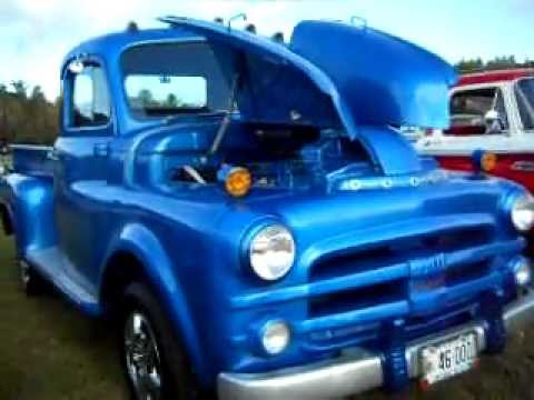 Check This 1953 Blue Dodge Truck Out - YouTube  1953 Dodge Flatbed Truck