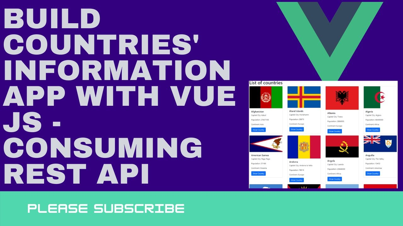 Consuming a REST API with Vue JS - Build a single-page application.