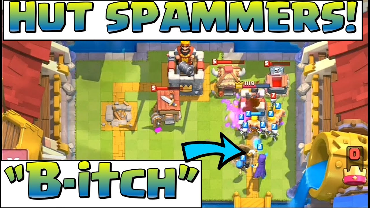 Clash Royale How To Beat The Hut Spammers Youtube