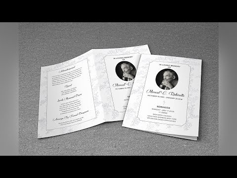 B&W Funeral Program Template V1