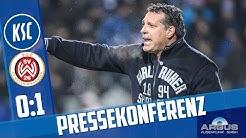 Pressekonferenz nach Wehen Wiesbaden (18. Spieltag)