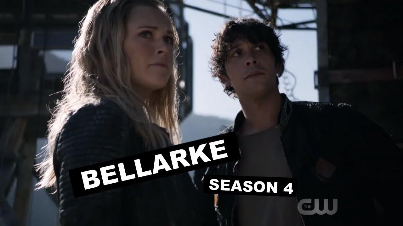the 100 - all bellarke scenes / season 4