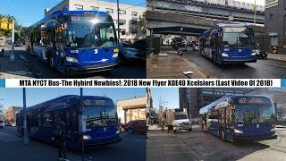 MTA NYCT Bus-The Hybird Newbies!: 2018 New Flyer XDE40 Xcelsiors On The B13, B38, B57, & B62 Routes