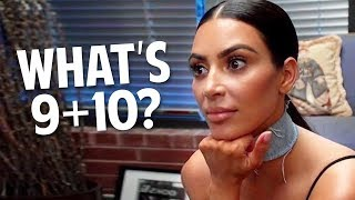 Proof Kim Kardashian Has -100IQ | KUWTK