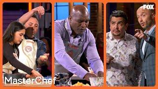 Joe & Aarón Spectate On Evander & Oscar's Cooking   MASTERCHEF CELEBRITY FAMILY SHOWDOWN