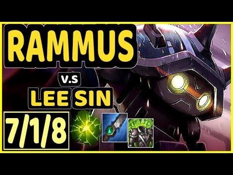 CARBON (RAMMUS) vs LEE SIN - 7/1/8 KDA JUNGLE GAMEPLAY - OC Ranked DIAMOND