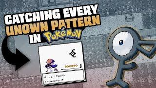 HOW EASILY CAN YOU CATCH EVERY LETTER OF UNOWN (IN EVERY GAME)?