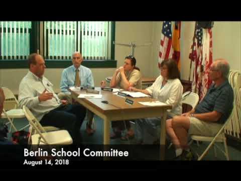 Berlin School Committee 08.14.18