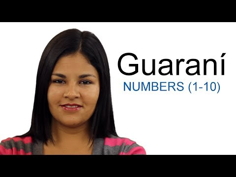 Learn Guaraní - Numbers From 1 To 10