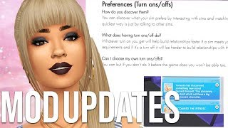 MOD UPDATES FOR THE SIMS 4 // THE SIMS 4 MODS