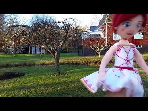 Ballerina leap Felicie plush doll dancing in my garden