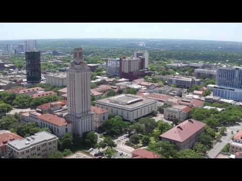 Drone video of the University of Texas