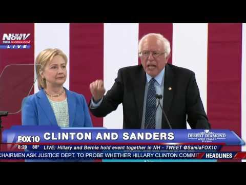 WATCH: Bernie Sanders Endorses Hillary Clinton at New Hampshire Event - FULL SPEECH - FNN