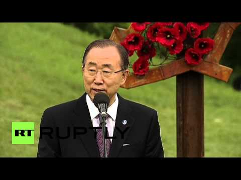 Ukraine: Ban Ki-moon honours Ukrainians that fought Nazis