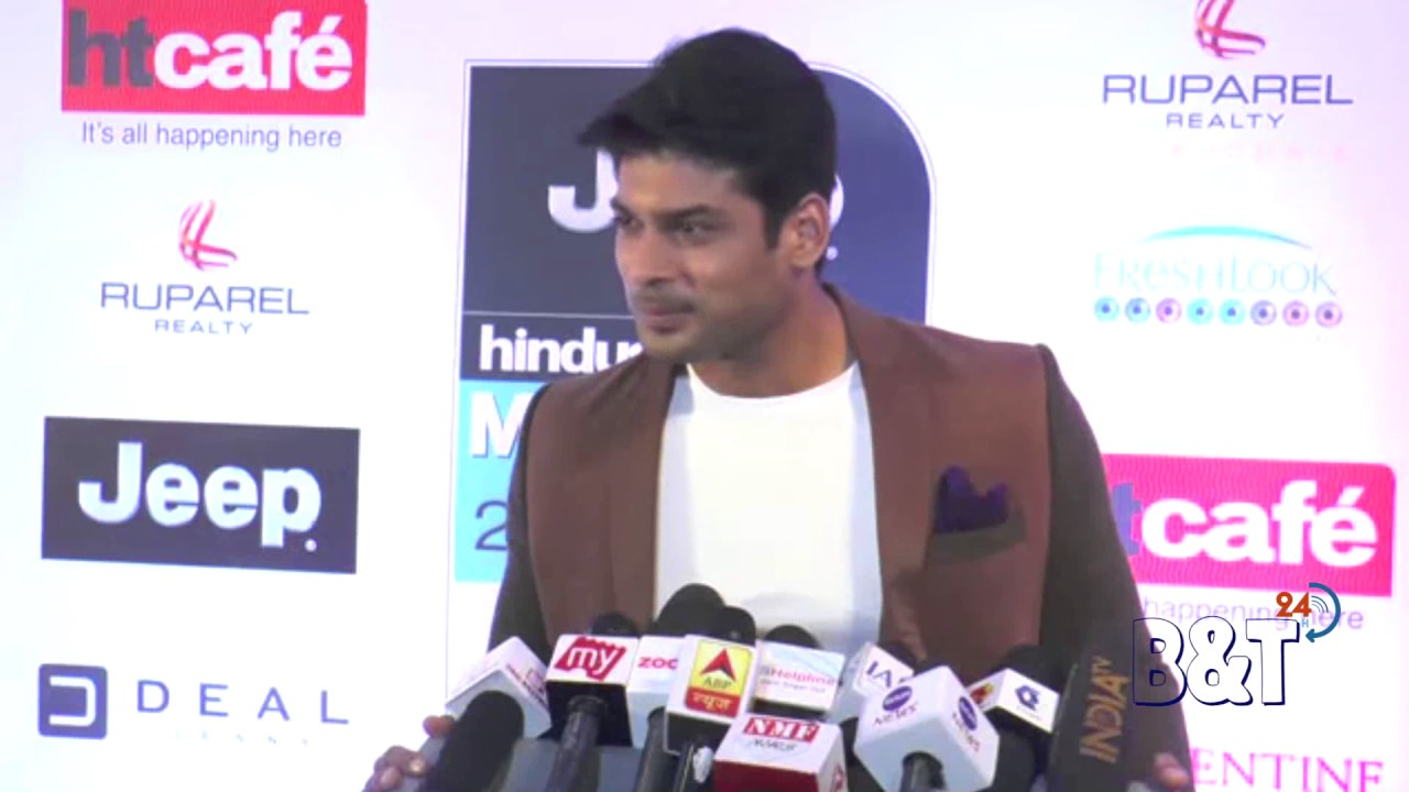 indian tv actor siddharth shukla at the red carpet of ht most