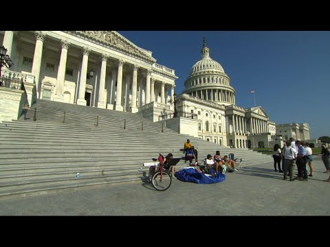 Rep. Bush camps out at Capitol, protests evictions