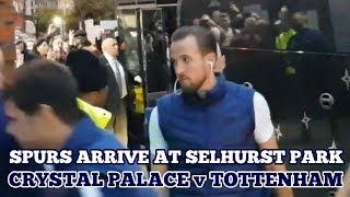 TOTTENHAM ARRIVE AT SELHURST PARK: Crystal Palace V Tottenham - 10 November 2018