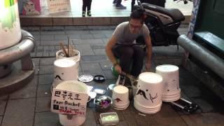 【神人】台灣街頭鼓神,超驚奇的街頭演出!