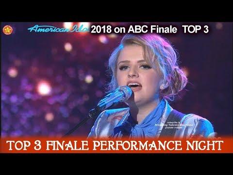 """Maddie Poppe sings """"Landslide"""" By Fleetwood Mac Homecoming Song American Idol 2018 Finale Top 3"""