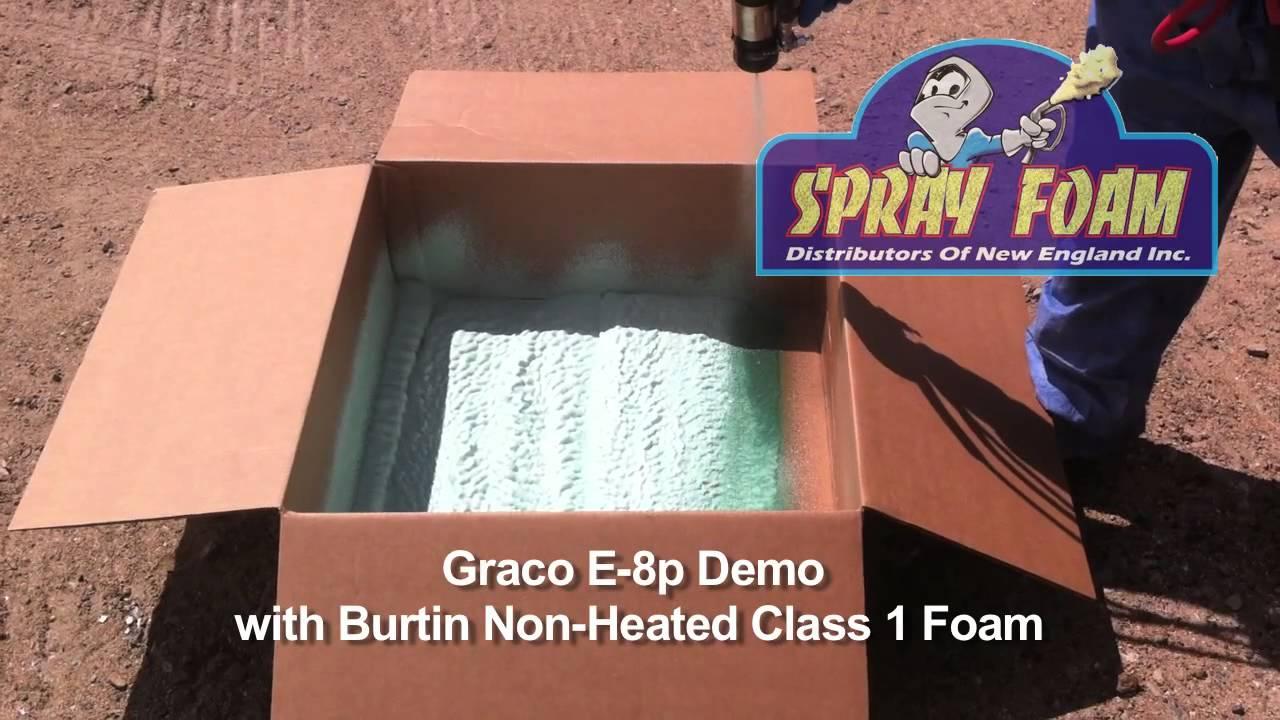 Graco E 8p Spray Foam Machine Demo With Non Heated Foam