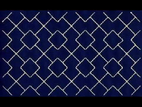 Sashiko Embroidery Quilt Design Tutorial 4 For Very Beginners
