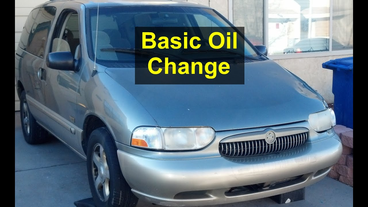 basic oil and filter change for the nissan quest mercury villager rh youtube com 1993 Nissan Quest Minivan 93 Nissan Quest Parts