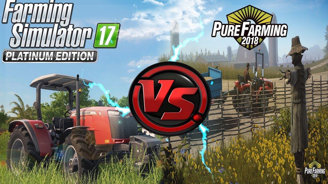 FARMING SIMULATOR 17 PLATINUM EDITION VS PURE FARMING 2018