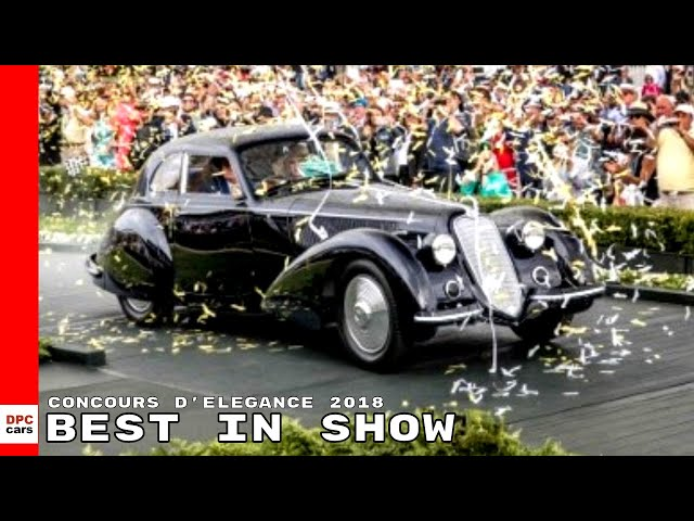 1937 Alfa Romeo 8C 2900B Touring Berlinetta Best In Show Pebble Beach Concours d'Elegance 2018