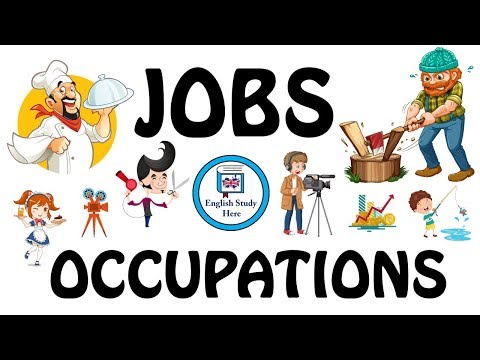 Jobs and Occupations in English   Jobs Vocabulary   Learn Jobs with Pictures   Jobs for Kids