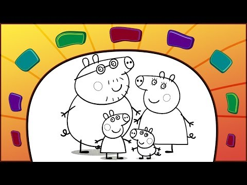 Peppa Pig coloring book | How to color Peppa's family