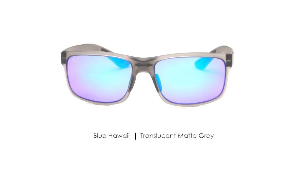 pokowai arch polarized sunglasses maui jim®Maui Jim Stingray Crystal Matte Blau Hawaii P 928 #8