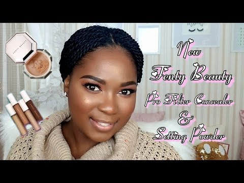 NEW FENTY BEAUTY PRO FILT'R CONCEALER & SETTING POWDER | REVIEW & DEMO