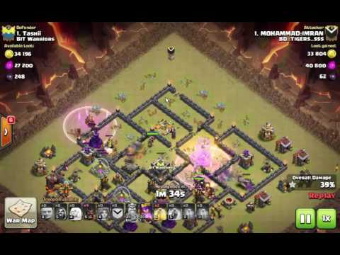 TH9 HGB (HOGGS + GIANTS+BOWLER)Attack strategy Easy 3 star Maxed Th9
