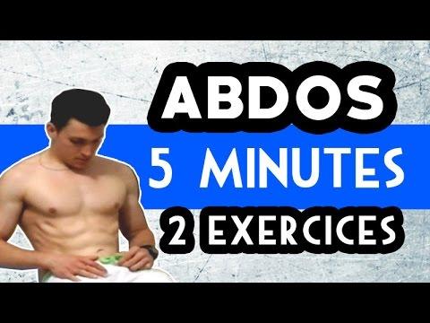 Entraînement ABDOS débutant : 5 minutes, 2 exercices ...