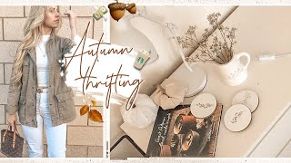 CHARITY SHOP HAUL   COME THRIFT WITH ME AUTUMN HOMEWARE & FASHION
