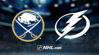 Sabres tie game in the 3rd, beat Lightning in OT